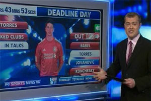 Deadline Day - big screens and many phones